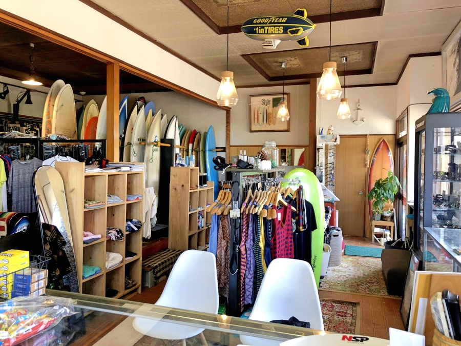 Surf shop inside